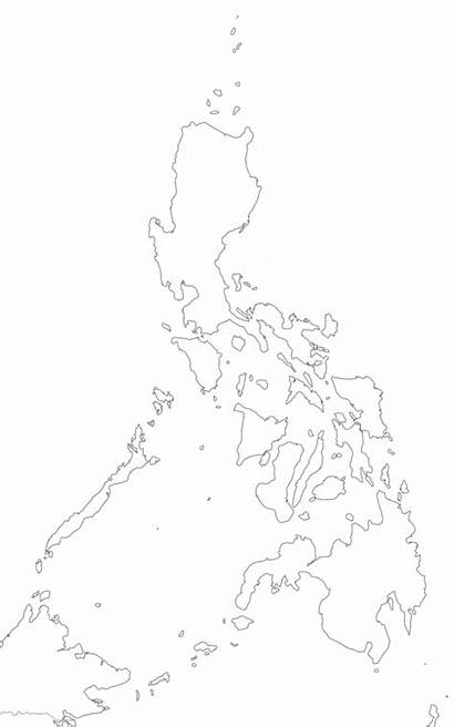 Map Philippine Philippines Drawing Clipart Blank Transparent