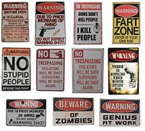 Funny No Trespassing Signs eBay