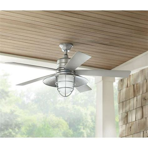 outdoor porch ceiling fans grayton 34343 54 in indoor outdoor galvanized ceiling fan