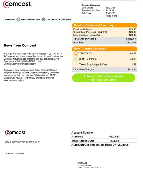 comcast billing department phone number compare your bill images frompo