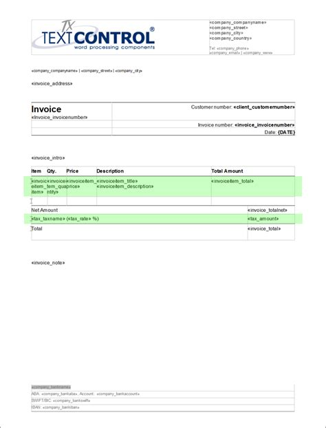 create template ready to use template creating invoices using tx text