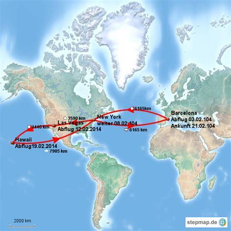 Usa Reise Februar 2014 Von Sabinewalker  Landkarte Für