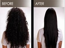 Brazilian Blowout For Damaged or Curly Hair Before and