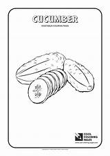 Cucumber Coloring Cool Colouring Template sketch template