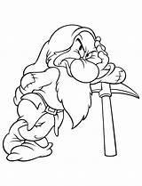 Grumpy Coloring Dwarfs sketch template