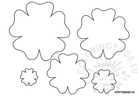 flower template printable coloring page