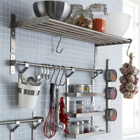 Kitchen Metal Wall Uk by Details About Grundtal Kitchen Home Wall Shelf Rack