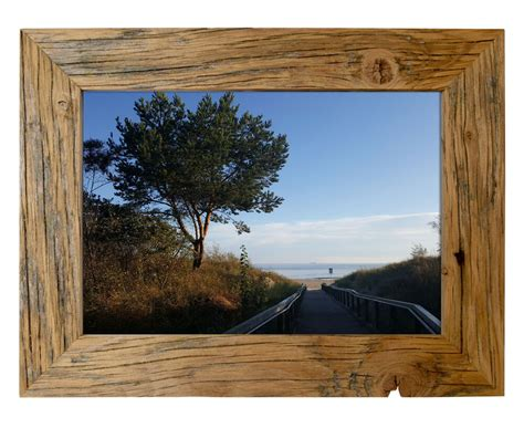 bilderrahmen holz rustikal bilderrahmen aus echtem alt holz im landhaus stil vintage rustikal handgefert ebay