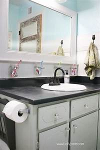 56 best decorate bathrooms images on pinterest With painting laminate bathroom countertops