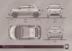 Fiat 500 Longueur : reserva de imagens blueprints ~ Medecine-chirurgie-esthetiques.com Avis de Voitures