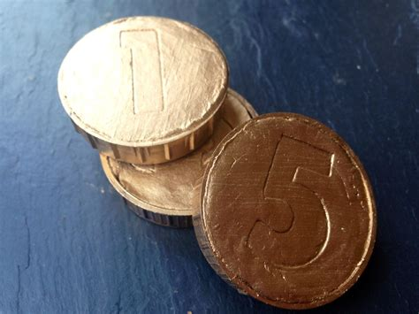 homemade gold coins  kid craft