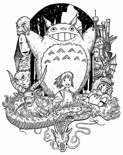 Ghibli Tattoo Miyazaki Studio Anime Totoro Another