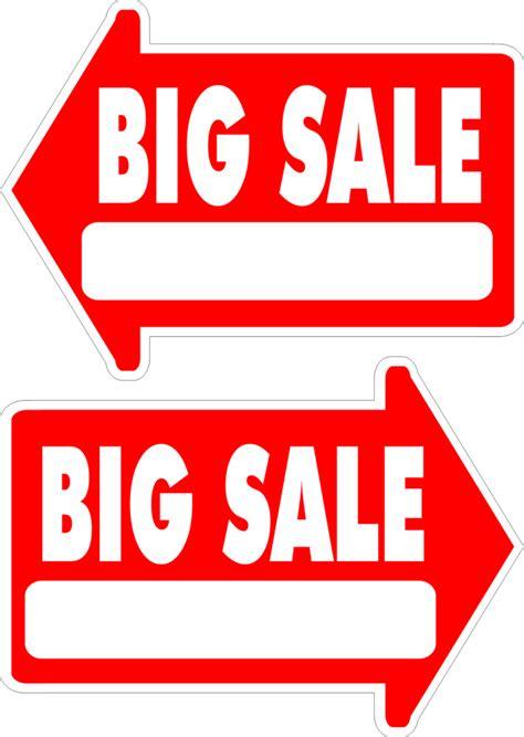 Yard Sale Sign Arrow Shaped With Frame Big Sale FREE ...