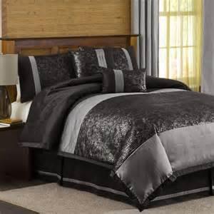 lush decor metallic animal 6 piece comforter set in black silver