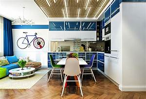 Wooden ceiling decor 20 unhackneyed ideas part 2 home for Kitchen colors with white cabinets with tandem bike wall art