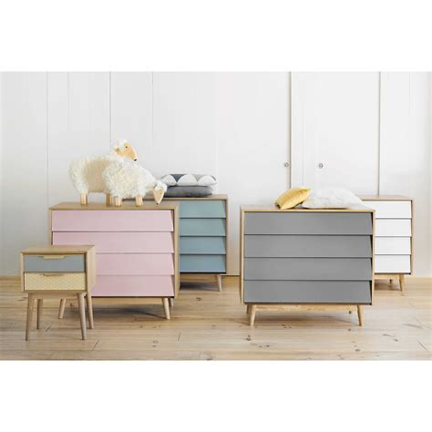 commode vintage en bois rose   cm fjord maisons du monde chambre petite fille pinterest