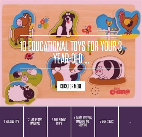 10 Educational Toys For Your 3 Yearold Parenting