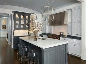gray kitchen island herringbone pattern herringbone and white shaker cabinets on