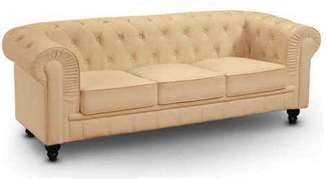 canapé royal canape chesterfield royal 3 places beige