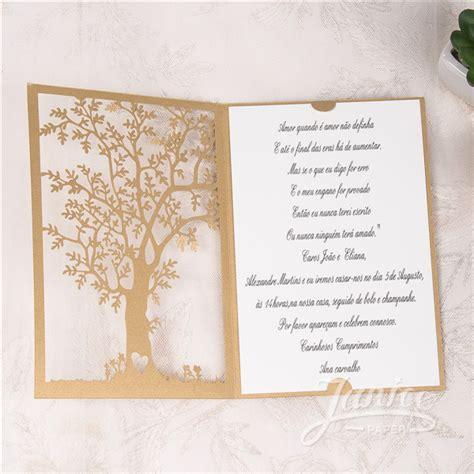 unique design elegant tree laser cut wedding invitations