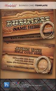 wild west business card template business card template