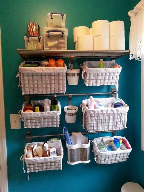 Small Storage Baskets Bathroom by My Version Of The Quot Small Bathroom Storage Quot Idea Shelves