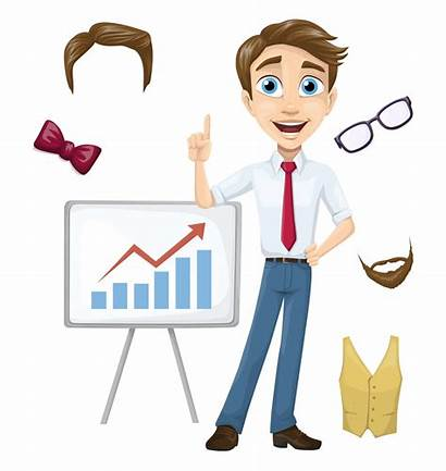 Businessman Character Alex Vector Different Own Create