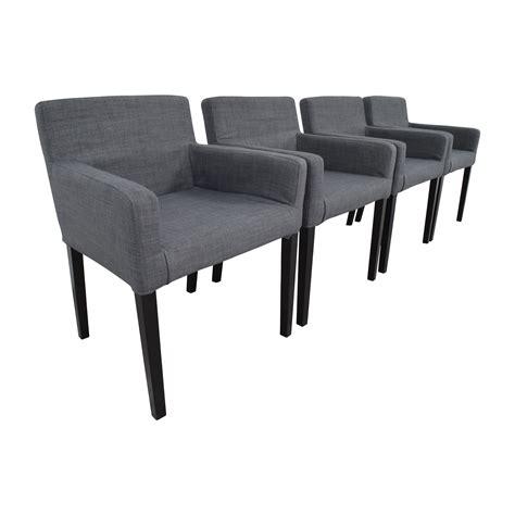 ikea ikea nils grey fabric dining room chairs chairs