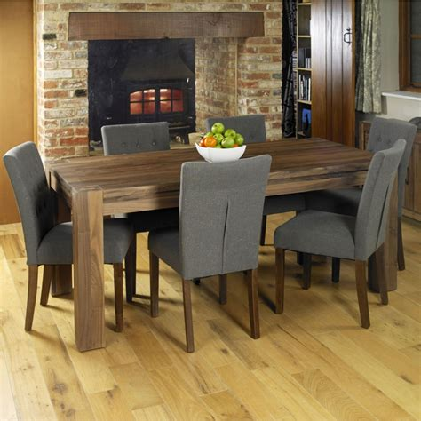 shiro walnut dark wood modern furniture large dining table