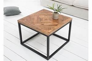 Penderie Fer Forgé : table basse fer forg et bois carr e pour salon ~ Dode.kayakingforconservation.com Idées de Décoration