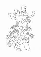Coloring Tango Dibujos Baile Flamenco Coloriage Dancer Danse Princesse Colorear Ballo Disegni Enf Colo Hommes Femmes Indice Colorir Disegno Colorare sketch template