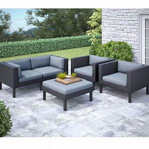 Corliving oakland 5 pc sofa and chair patio set the home for 5 pc sectional sofas