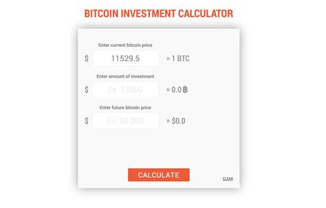 In recent times bitcoin is has formed several moves to the up and to. BITCOIN INVESTMENT CALCULATOR