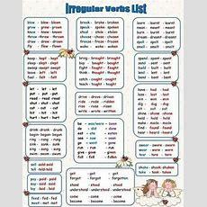 359 Best Verbs Lists Regular  Irregular Images On Pinterest  English Classroom, English And