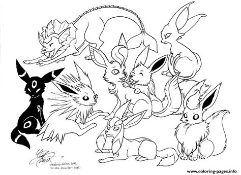 eevee coloring pages eevee evolutions coloring pages printable