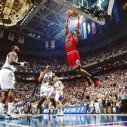 Jordan Dunk Michael Dunks Bulls Chicago Nba
