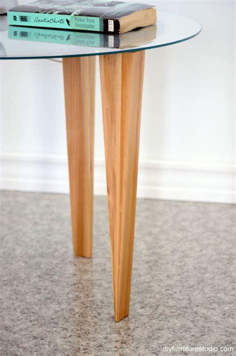 retro style side table legs wood shims diy