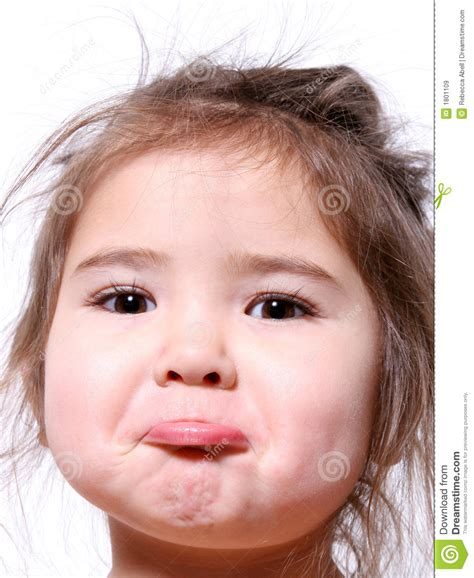 Little Girl Pout Royalty Free Stock Images  Image 1801109