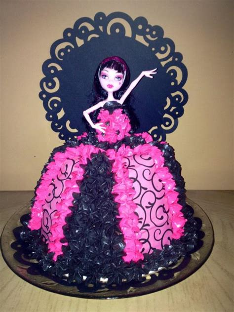 Divas Cake Decorations by You To See Draculaura High Cake By