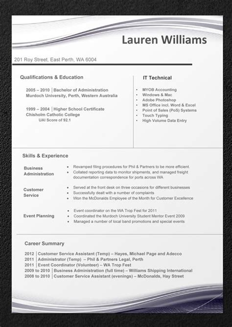 sample resumes professional resume templates