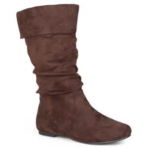 womens boots walmart brinley co 39 s slouchy microsuede boots walmart com