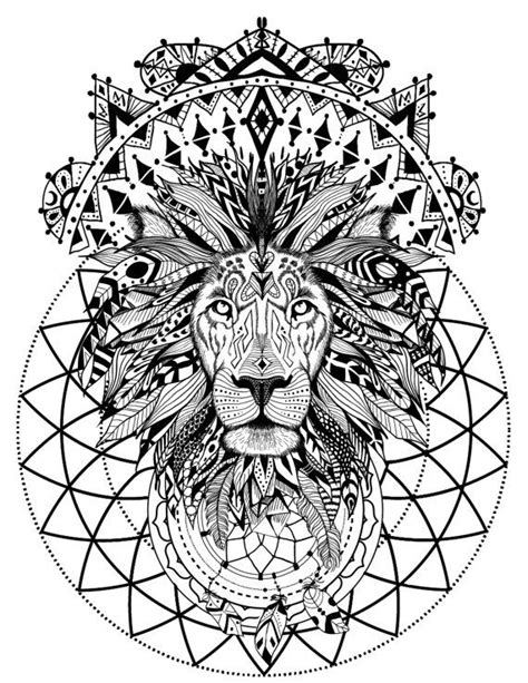 Wild and free spirit animals - printable coloring book page and crystal grid. Adult coloring