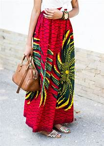 Long African Full Maxi Skirt Outfit Inspiration With Hat