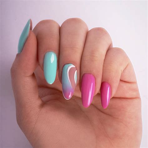 summer nail art  bright colored  stylish summer