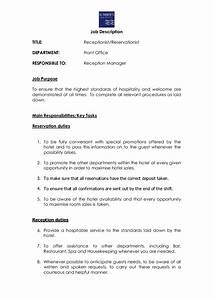 Rceptionist Reservationist Template Edit Fill Sign