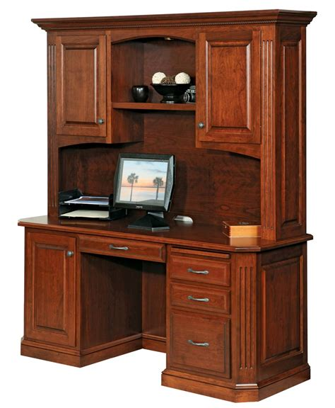 credenza desk and hutch buckingham credenza and hutch amish direct furniture