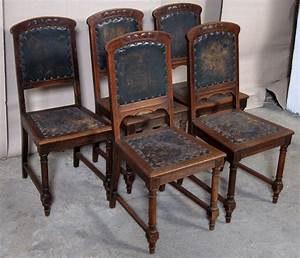 Antike Stühle Jugendstil : f nf jugendstil st hle aus eiche mit gedrechselten beinen ~ Michelbontemps.com Haus und Dekorationen