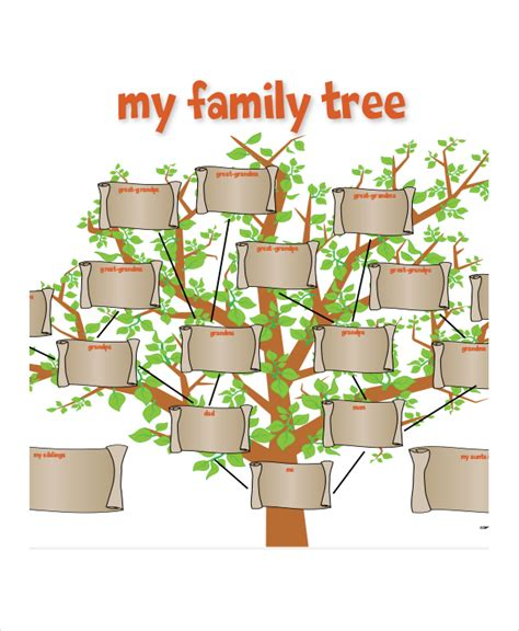 Information About Family Tree Template With Siblings Aunts Uncles