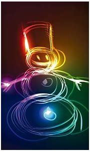 Neon Snowman Creative, HD Creative, 4k Wallpapers, Images ...