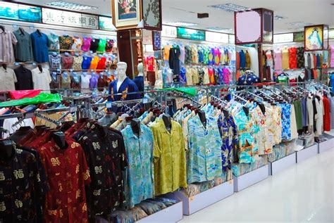 big cloth shop   chinese style stock photo colourbox